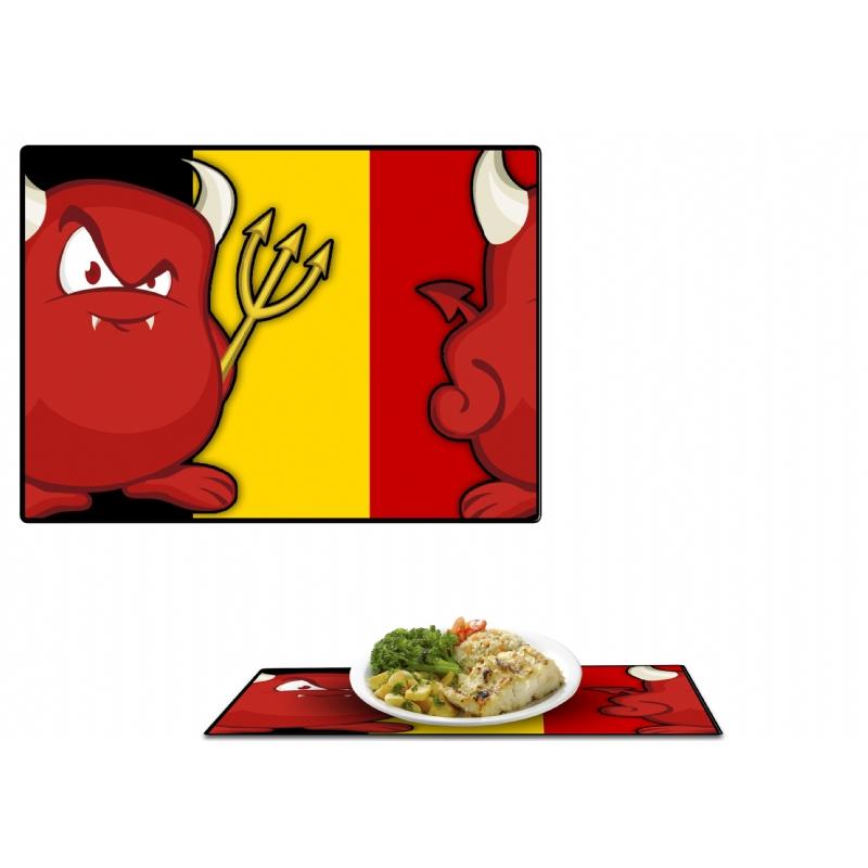 Placemats in de Belgische kleuren