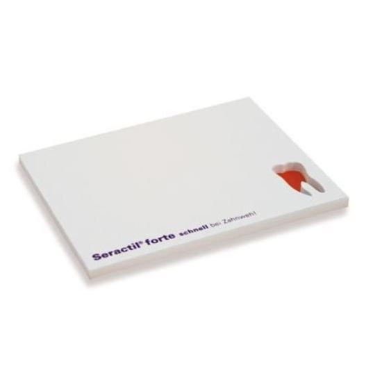 Sticky notes met uitgestanste vorm