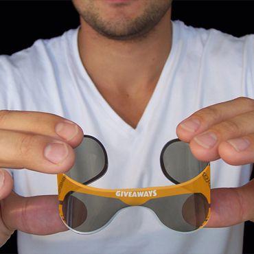 oprolbare zonnebril zonder oortjes