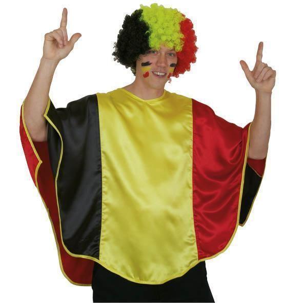 Poncho in Belgische driekleur