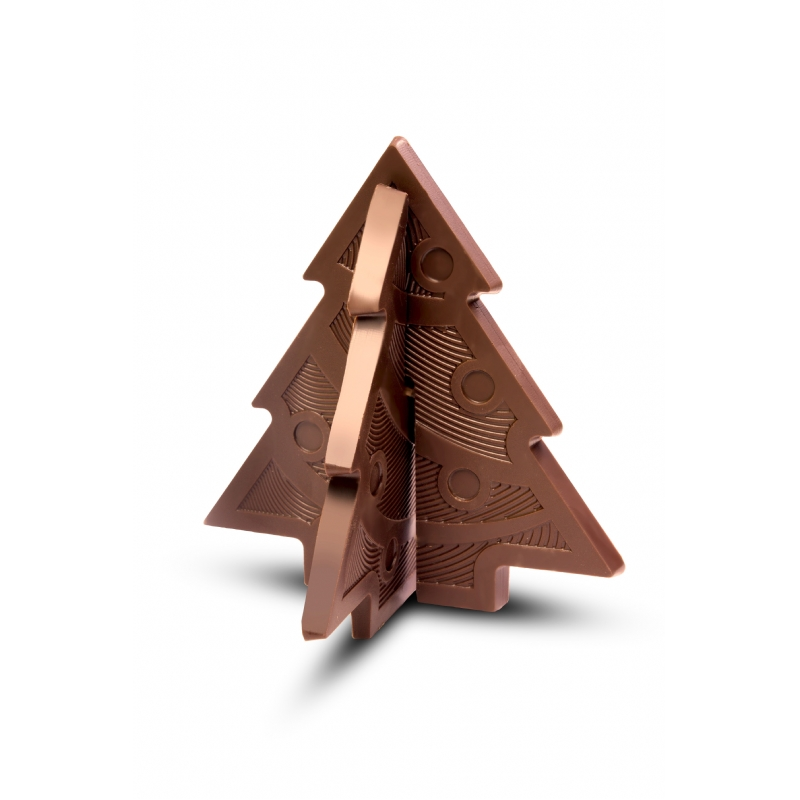 3D Chocolade Kerstboom Puzzel