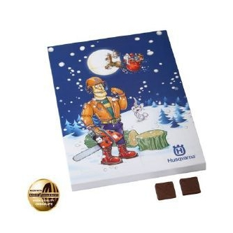 Adventskalender met chocolade
