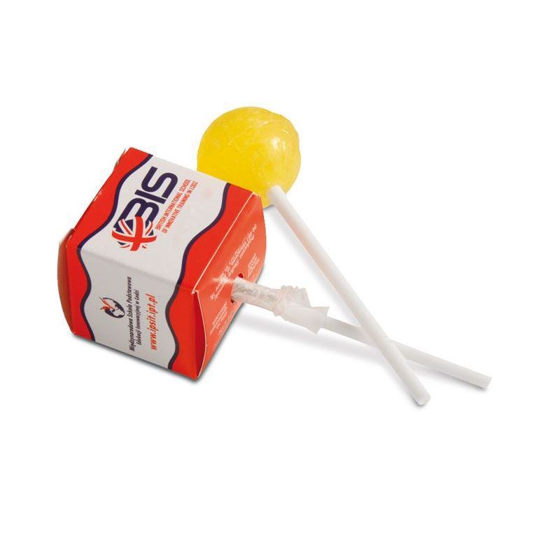 Lolly in vierkant doosje relatiegeschenk