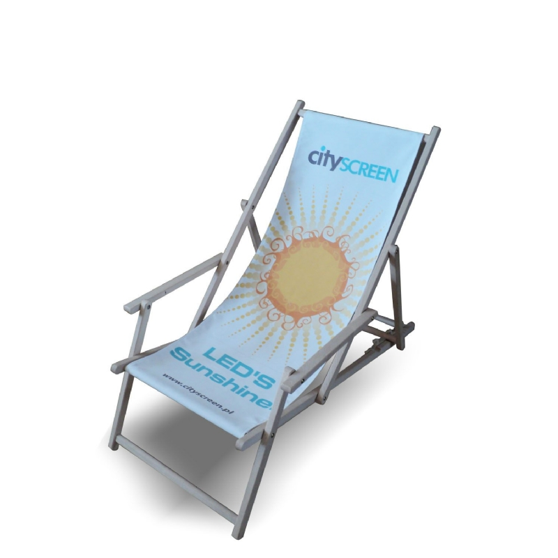 Strandstoel met allover opdruk