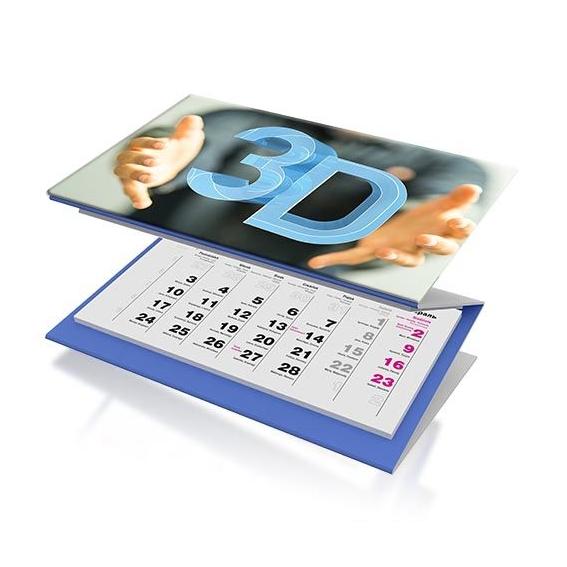 3maands kalender met 3D effect