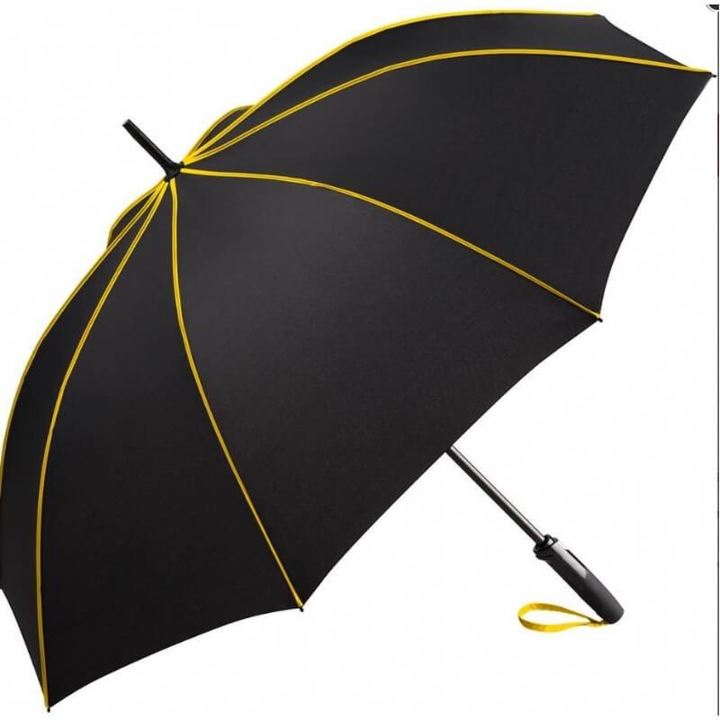 Zwarte paraplu met leuke kleuraccenten