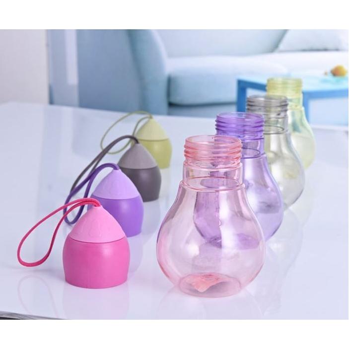 originele drinkfles in lamp vorm