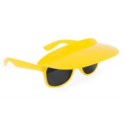 zonnebril met zonneklep