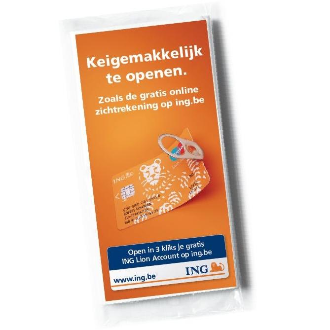 papieren zakdoekjes met reclame