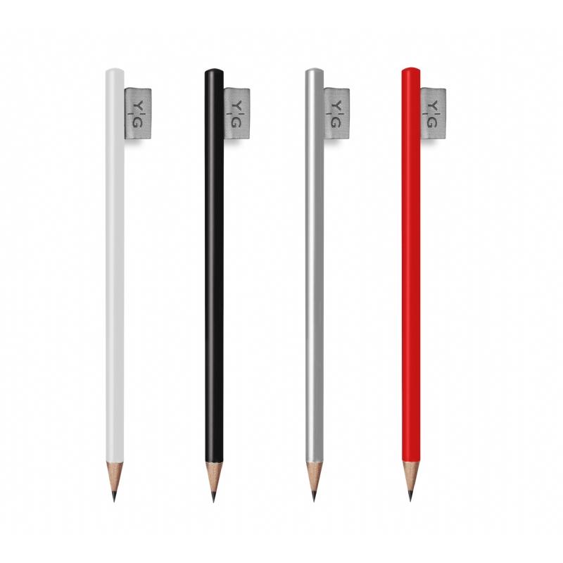 Houten potlood met een label